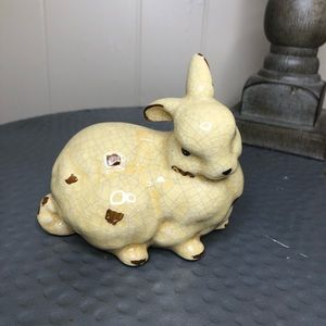 Other - Rustic Ceramic Cracked Bunny Decor